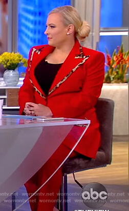 Meghan's red blazer with leopard trim on The View