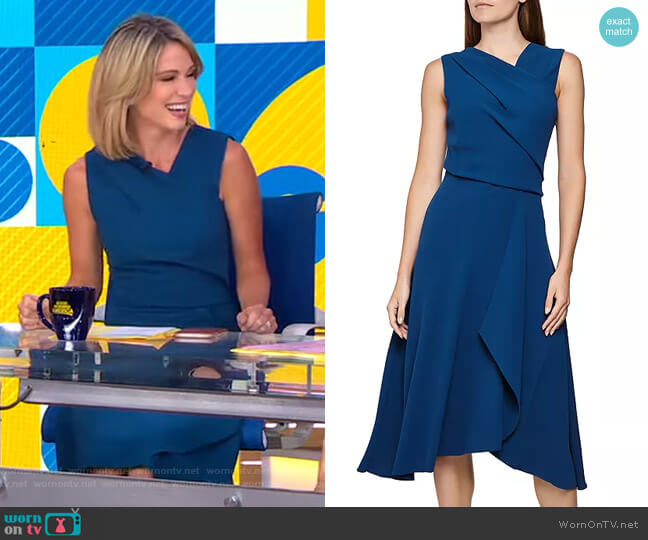Marling Dress by Reiss worn by Amy Robach  on Good Morning America