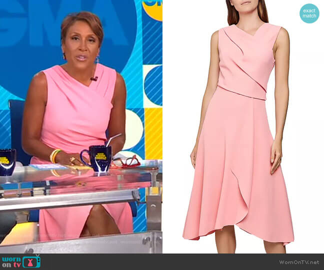 Marling Dress by Reiss worn by Robin Roberts  on Good Morning America