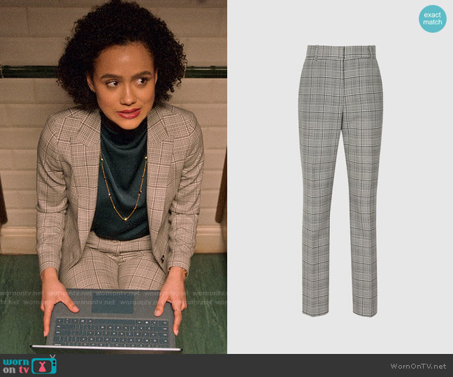 Reiss Alenna Trousers worn by Maya (Nathalie Emmanuel) on Four Weddings & a Funeral
