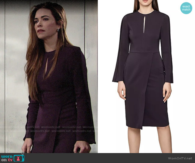 Reiss Anouk Dress worn by Victoria Newman (Amelia Heinle) on The Young & the Restless