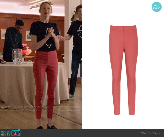 Reiss Arla Trousers in Tulip Pink worn by Gemma (Zoe Boyle) on Four Weddings & a Funeral