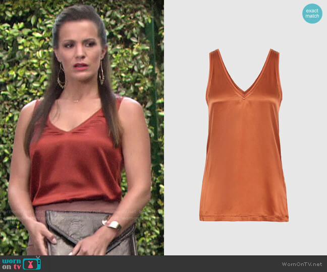 Reiss Darcia Top worn by Chelsea Lawson (Melissa Claire Egan) on The Young & the Restless