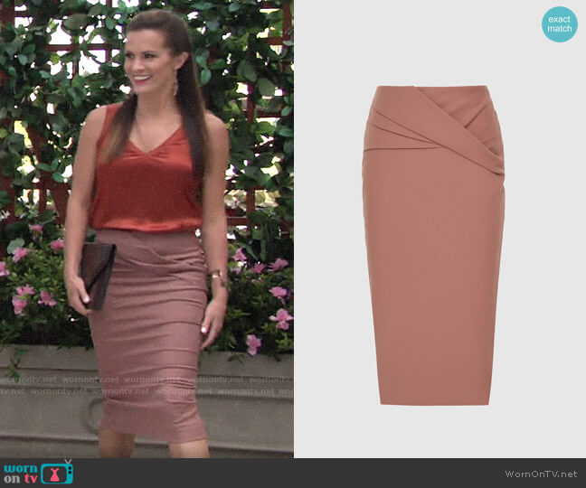 Reiss Icia Skirt worn by Chelsea Lawson (Melissa Claire Egan) on The Young & the Restless
