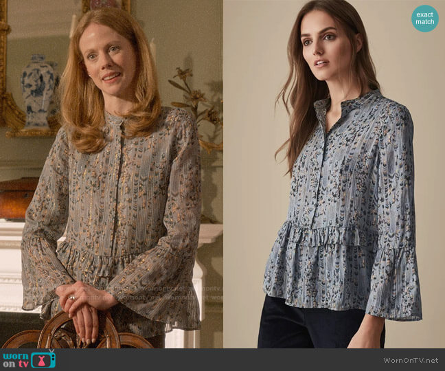 Reiss Joe Blouse worn by Gemma (Zoe Boyle) on Four Weddings & a Funeral