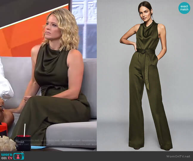 Milo Jumpsuit by Reiss worn by Sara Haines  on Good Morning America
