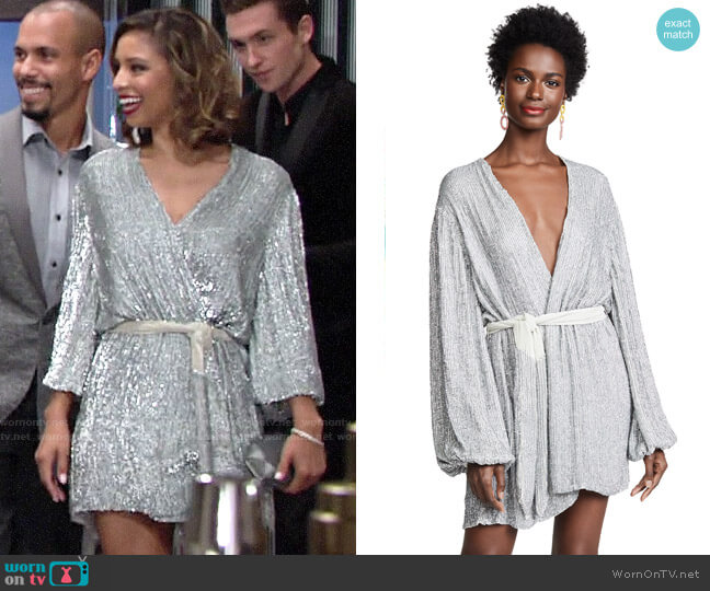 Retrofete Gabrielle Dress worn by Elena Dawson (Brytni Sarpy) on The Young & the Restless