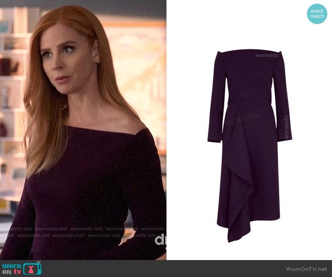 Roland Mouret Clover Dress worn by Donna Paulsen (Sarah Rafferty) on Suits