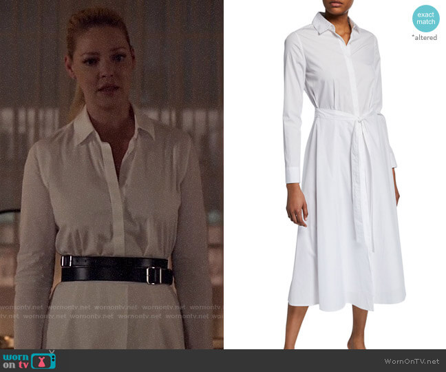 Rosetta Getty Wrapped Apron Shirtdress worn by Samantha Wheeler (Katherine Heigl) on Suits