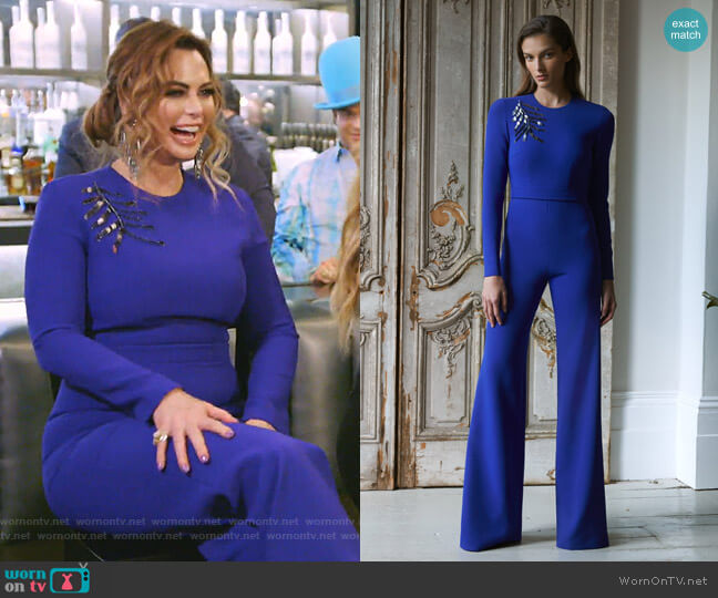 Ariella Wide Leg Jumpsuit by Safiyaa worn by D'Andra Simmons  on The Real Housewives of Dallas