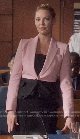 Samantha's pink and black blazer on Suits