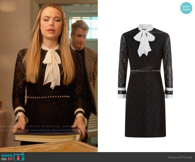 Sandro Lace Dress worn by Ainsley Howard (Rebecca Rittenhouse) on Four Weddings & a Funeral