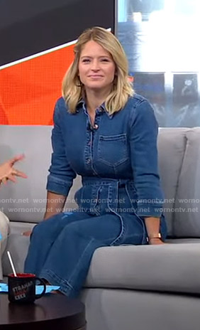 Sara's denim jumpsuit on GMA Strahan Sara And Keke