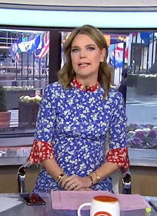 Savannah's blue and red floral dress on Today