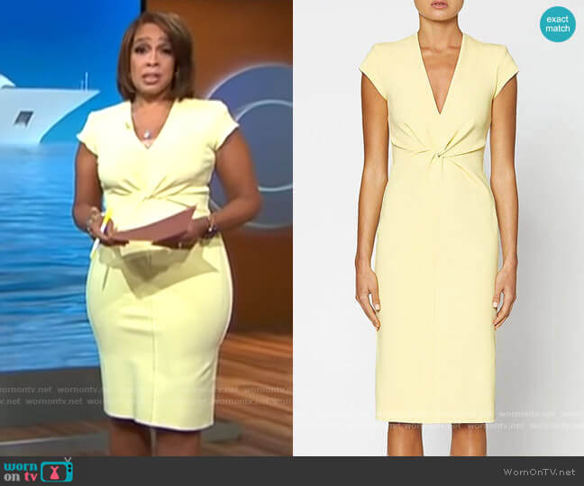 Scanlan Theodore Milano Turban Dress worn by Gayle King  on CBS This Morning