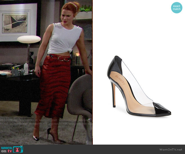 Schutz Cendi Pumps worn by Sally Spectra (Courtney Hope) on The Bold & the Beautiful