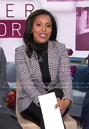 Sheinelle's grey plaid blazer on Today