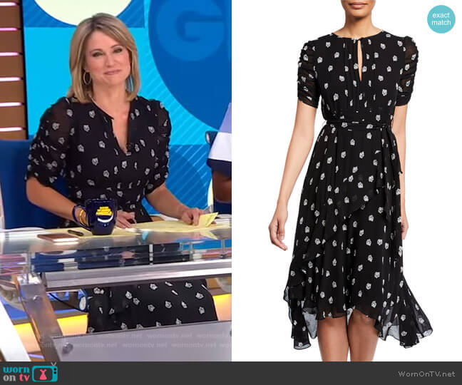 Savona Dress by Shoshanna worn by Amy Robach  on Good Morning America