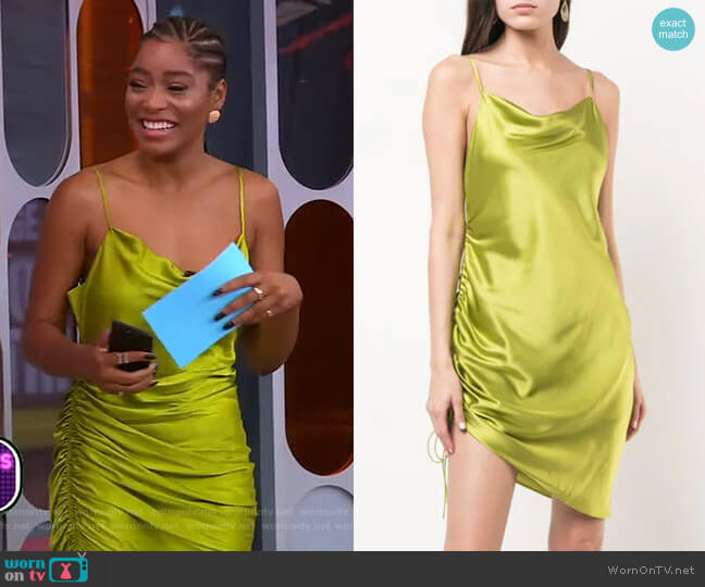 Astrid Dress by Cinq a Sept worn by Keke Palmer  on Good Morning America