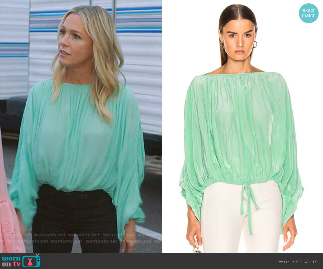 Butterfly Blouse by Smythe worn by Jennie Garth  on BH90210