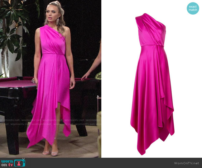 Solace London Marine Dress worn by Abby Newman (Melissa Ordway) on The Young & the Restless