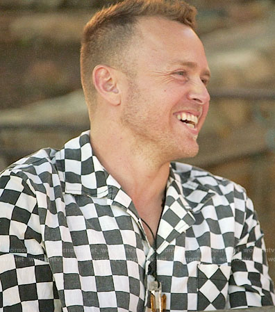 Spencer's checkerboard shirt on The Hills New Beginnings