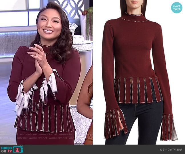 Mika Top by Staud worn by Jeannie Mai  on The Real