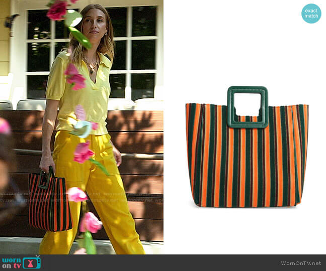 Staud Shirley Stripe Terry Satchel worn by Whitney Port  on The Hills New Beginnings