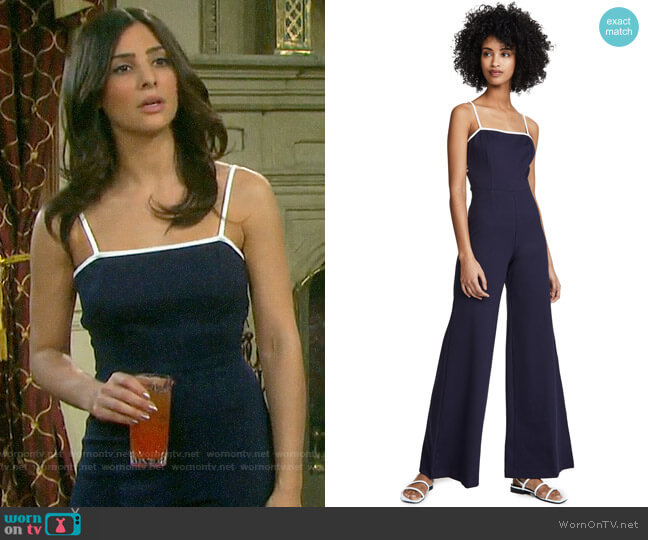 Staud Twilo Jumpsuit worn by Gabi Hernandez (Camila Banus) on Days of our Lives