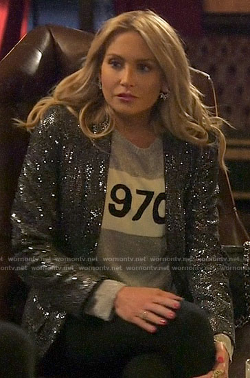 Stephanie's silver 1970 sweater on The Hills New Beginnings