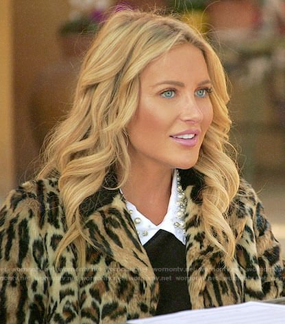 Stephanie's leopard fur coat on The Hills New Beginnings
