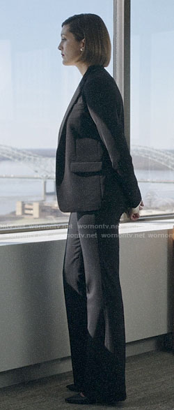 Sydney's black suit on Bluff City Law