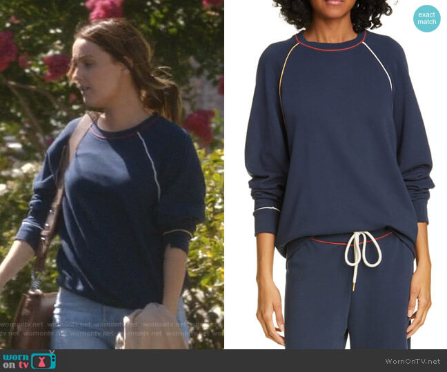 The College Sweatshirt by The Great worn by Jo Wilson (Camilla Luddington) on Greys Anatomy