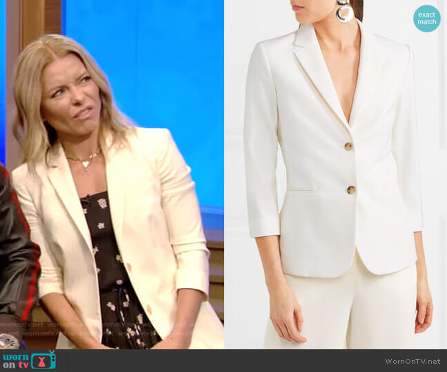 Schoolboy Stretch Blazer by The Row worn by Kelly Ripa  on Live with Kelly & Ryan