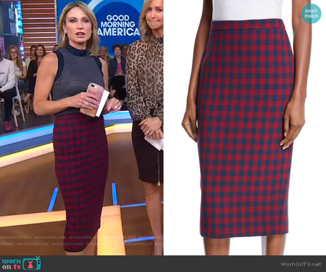 Thea Pencil Skirt by A.L.C. worn by Amy Robach  on Good Morning America