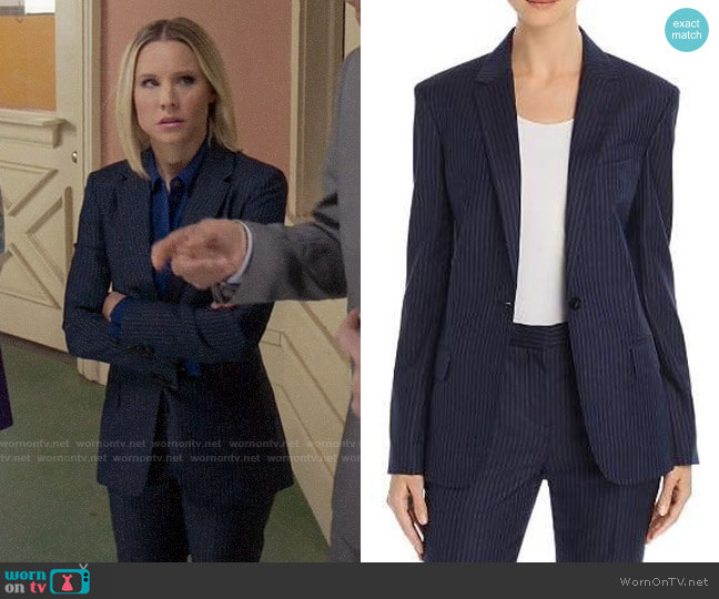 Theory Staple Wool Blazer worn by Eleanor Shellstrop (Kristen Bell) on The Good Place