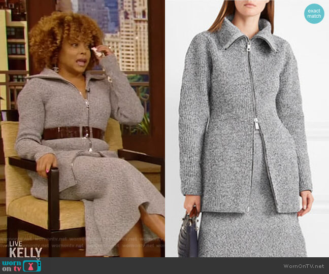 Melange Knitted Jacket by Tibi worn by Taraji P. Henson on Live with Kelly and Ryan