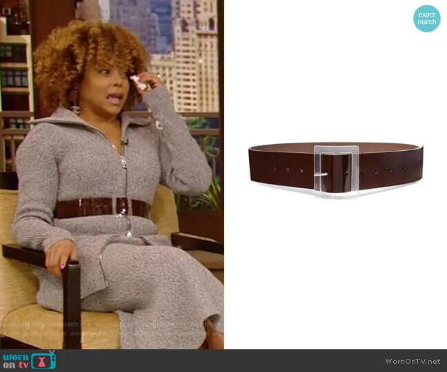 Patent-Leather Waist Belt by Tibi worn by Taraji P. Henson on Live with Kelly and Ryan