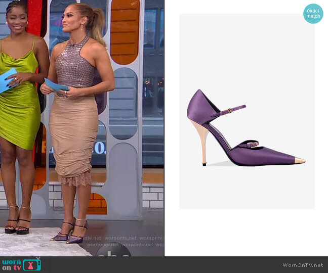 Mary Jane Pump by Tom Ford worn by Jennifer Lopez on GMA