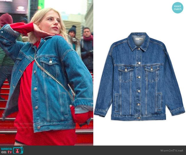 Topshop Oversized Denim Jacket worn by Astrid (Lucy Boynton) on The Politician