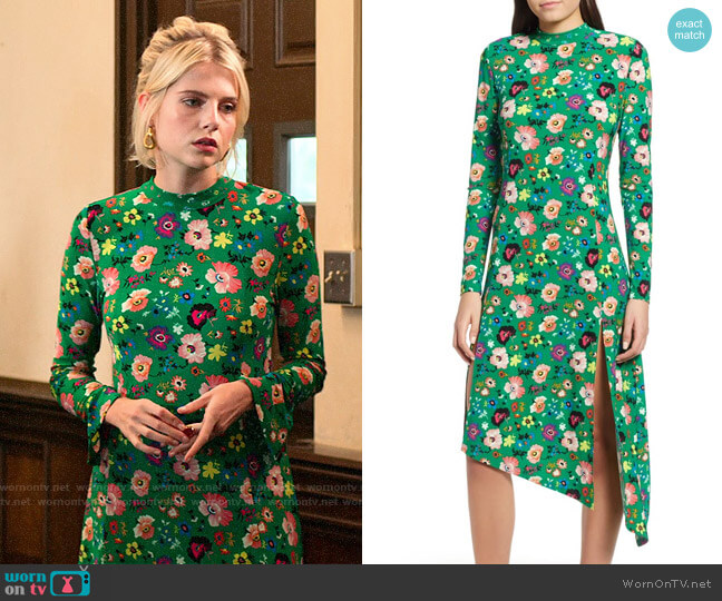 Topshop Floral Chuck On Midi Dress worn by Astrid (Lucy Boynton) on The Politician