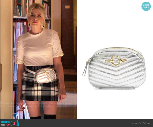 Topshop Queenie Quilted Bumbag worn by Astrid (Lucy Boynton) on The Politician
