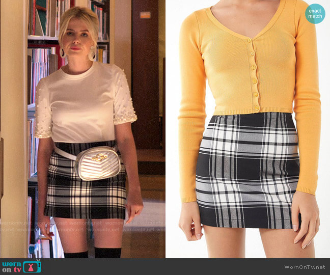 UO Out To Play Plaid Mini Skirt worn by Astrid (Lucy Boynton) on The Politician