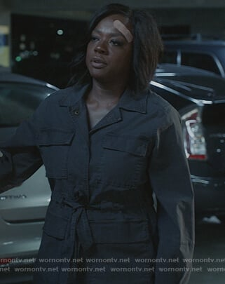 Annalise's utility jacket on How to Get Away with Murder