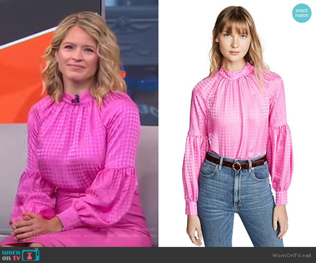 Cicley Top by Veronica Beard worn by Sara Haines  on Good Morning America