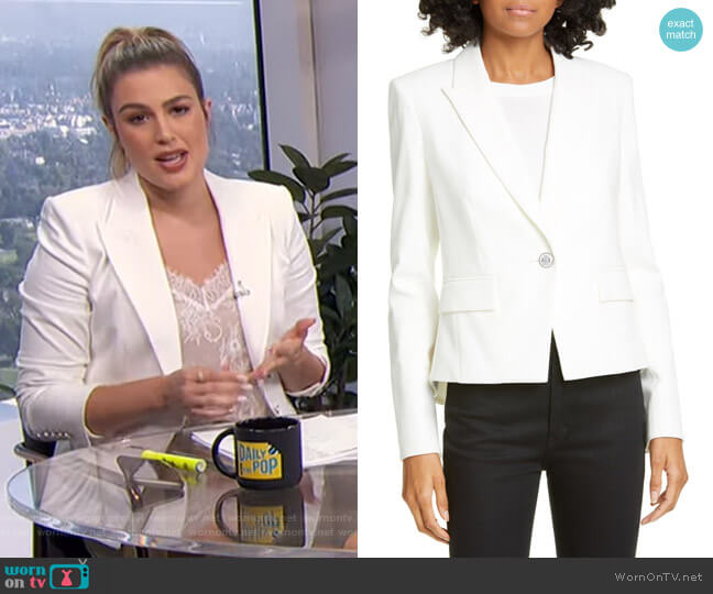 Danielle Dickey Jacket by Veronica Beard worn by Carissa Loethen Culiner  on E! News