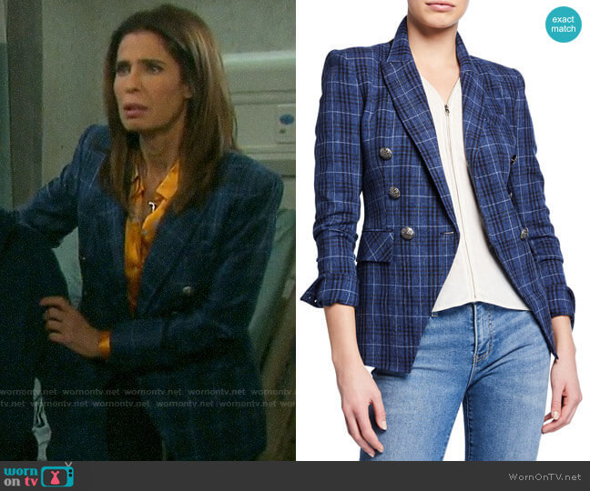 Veronica Beard Miller Dickey Jacket worn by Hope Williams (Kristian Alfonso) on Days of our Lives
