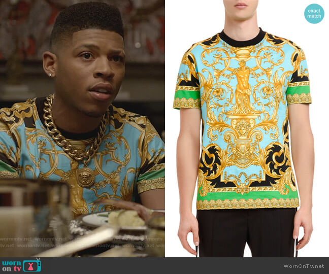 Classical T-Shirt by Versace worn by Hakeem Lyon (Bryshere Y. Gray) on Empire