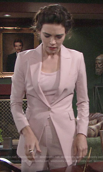Victoria's pink suit on The Young and the Restless