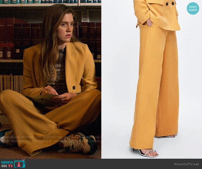 Zara Wide Leg Pants worn by McAfee (Laura Dreyfuss) on The Politician